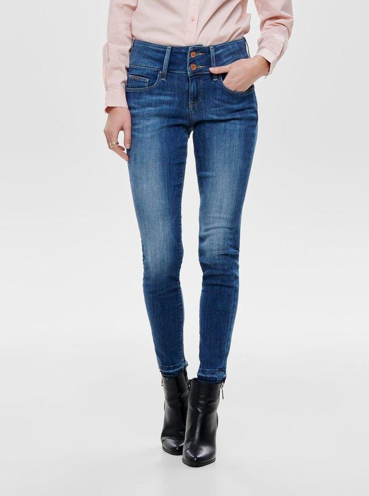 Modré zkrácené skinny džíny ONLY Anna