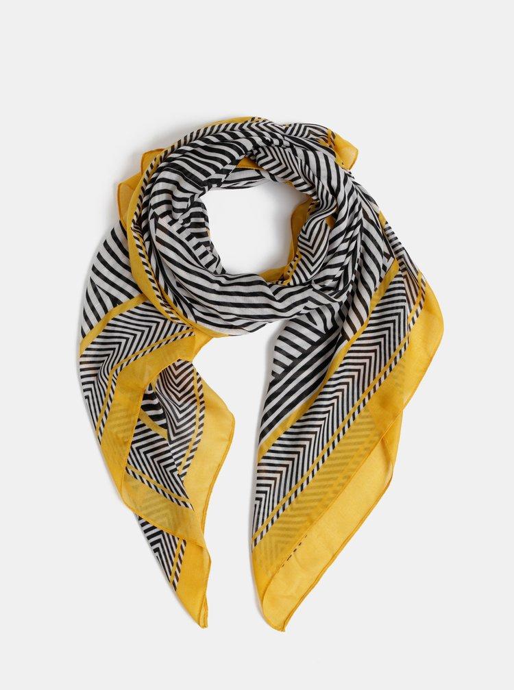 Žlto–čierna pruhovaná šatka Dorothy Perkins