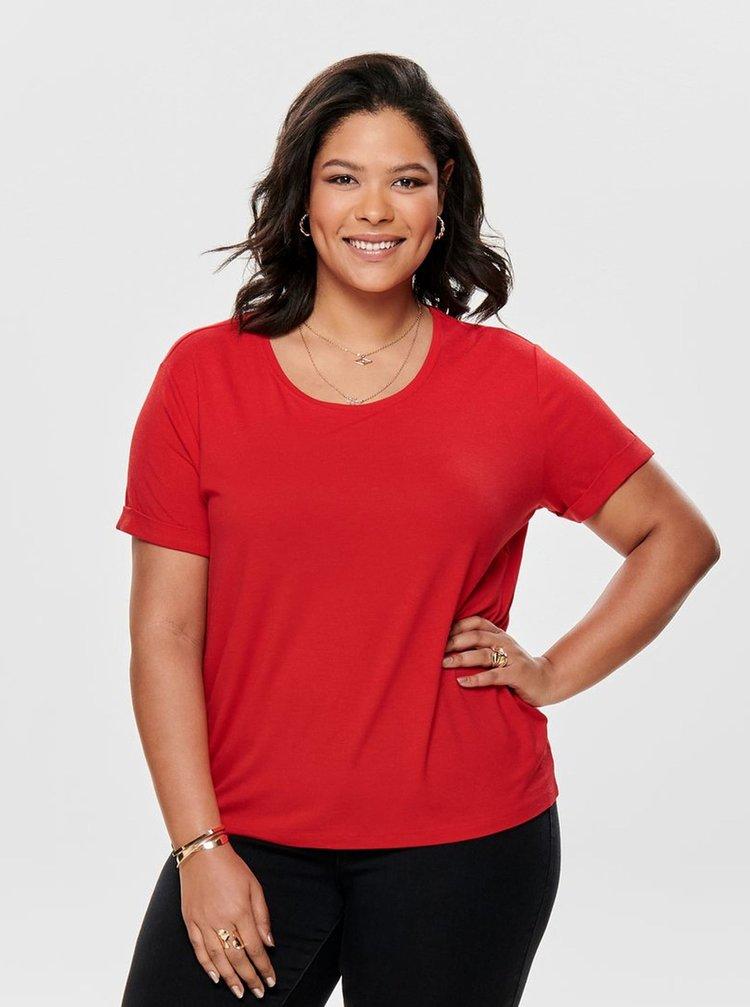 Červené basic tričko ONLY CARMAKOMA Carcama