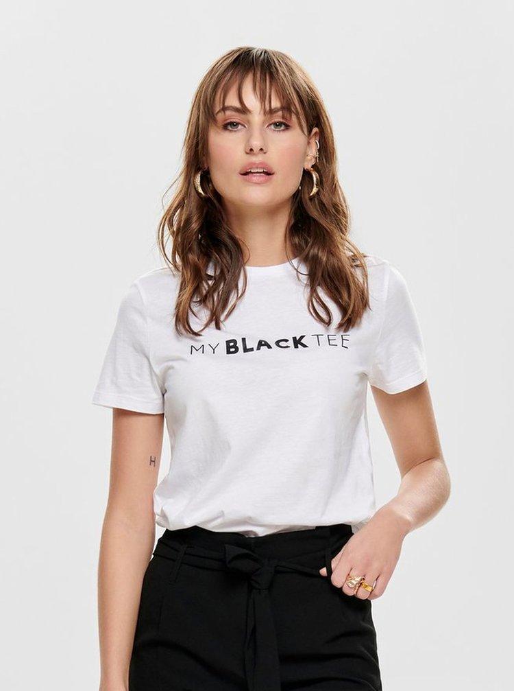 Biele tričko s potlačou ONLY Charlie