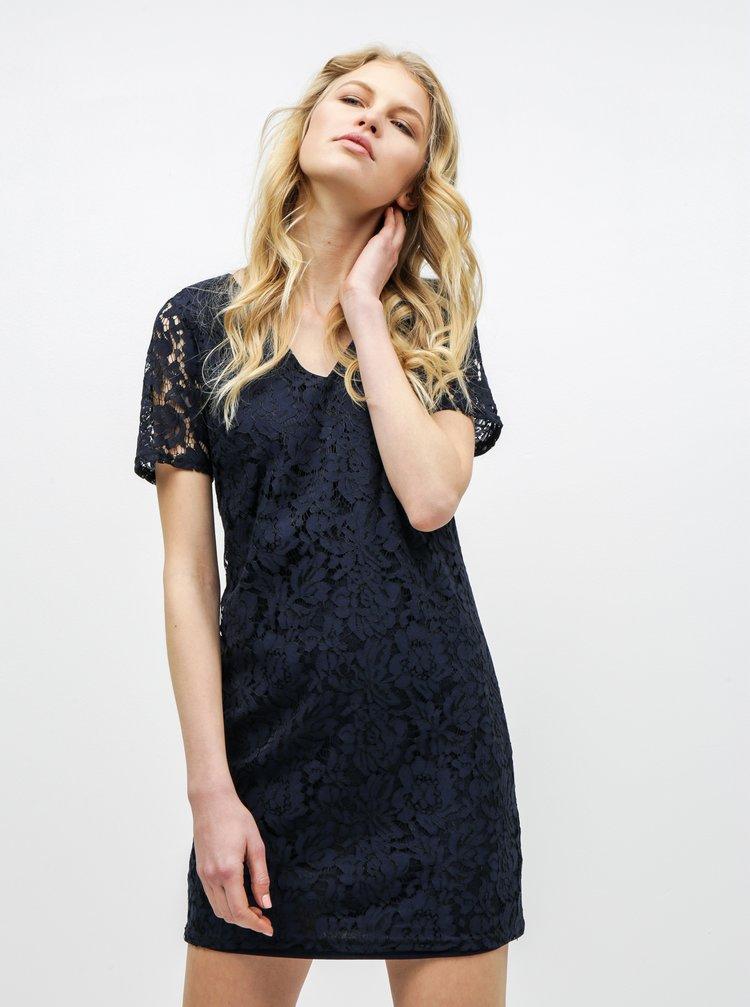 Tmavomodré čipkované šaty Dorothy Perkins