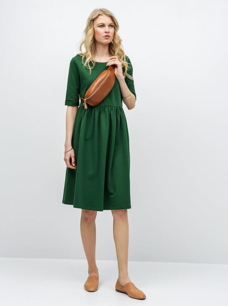 6c27bbcd49bc Zelené volné šaty s kapsami ZOOT