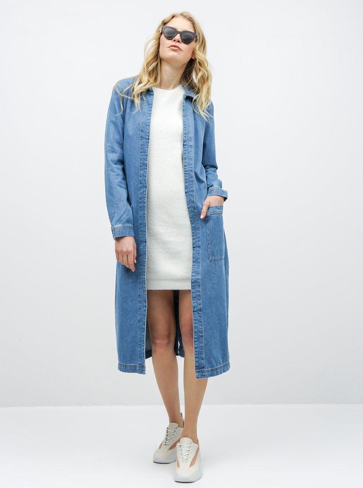 Svetlomodrý tenký rifľový kabát ONLY Happy
