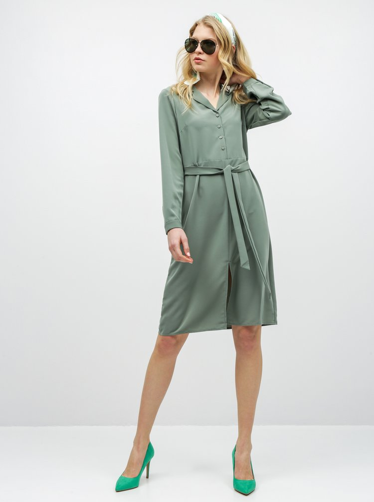 Zelené košilové šaty VERO MODA Camila