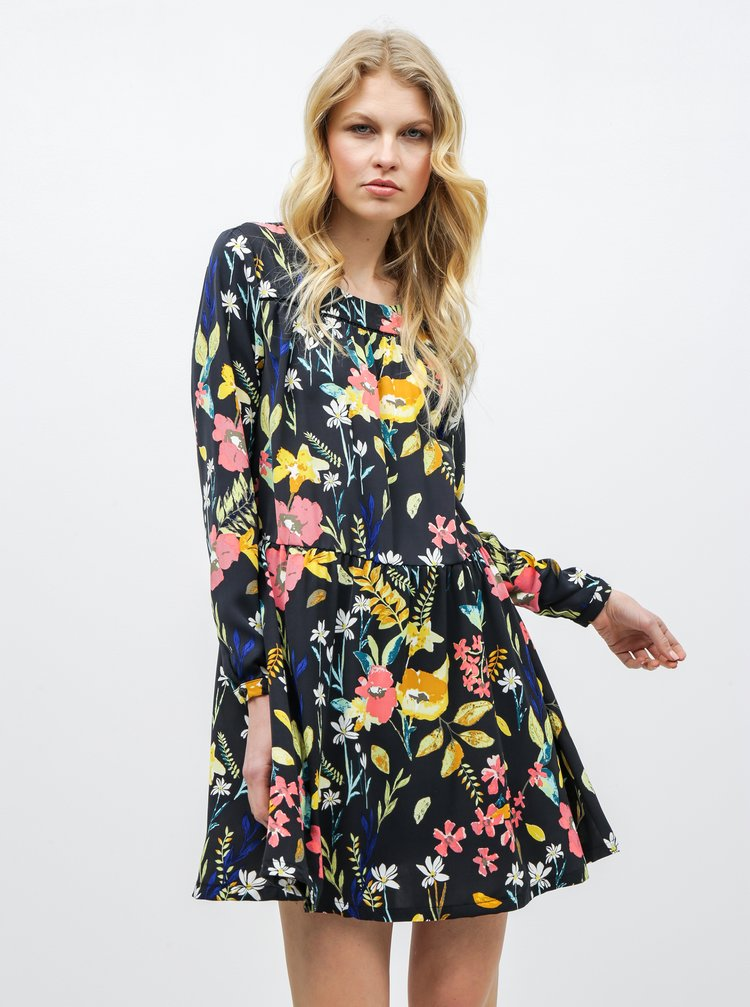 Černé květované šaty ONLY Penny