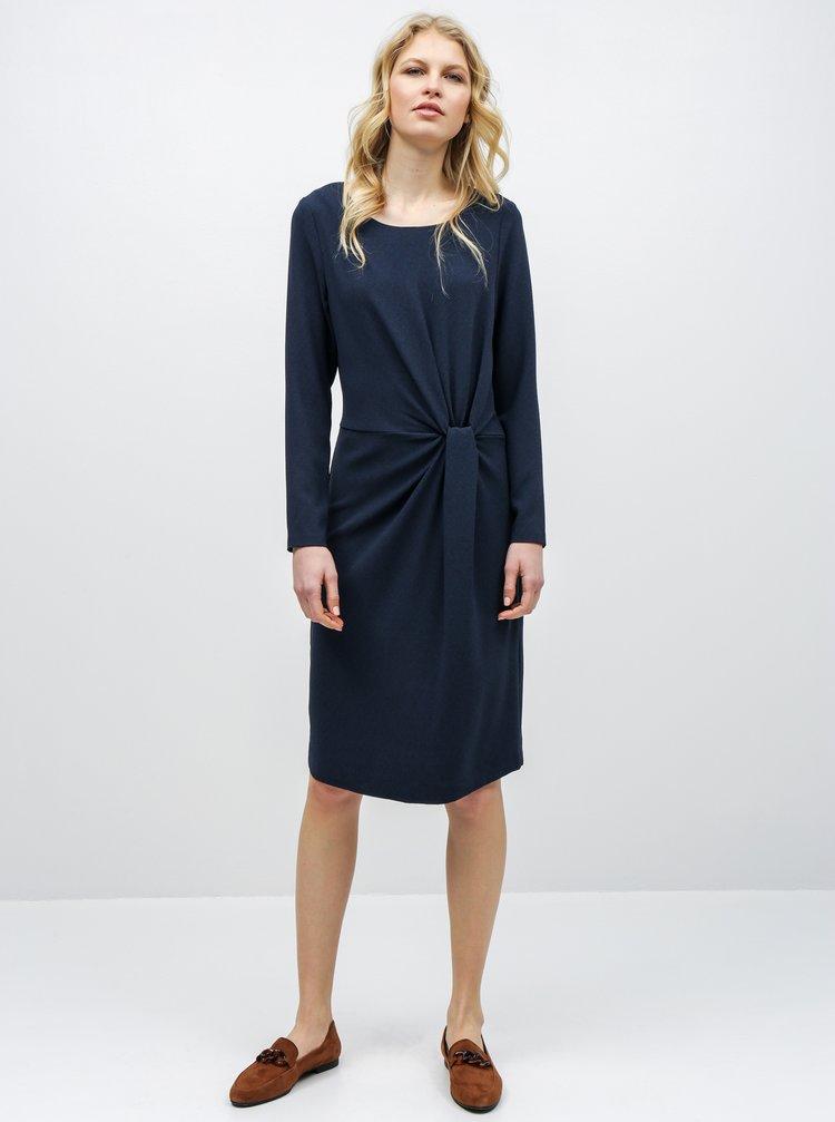 Rochie albastru inchis cu pliuri laterale VILA Sealo