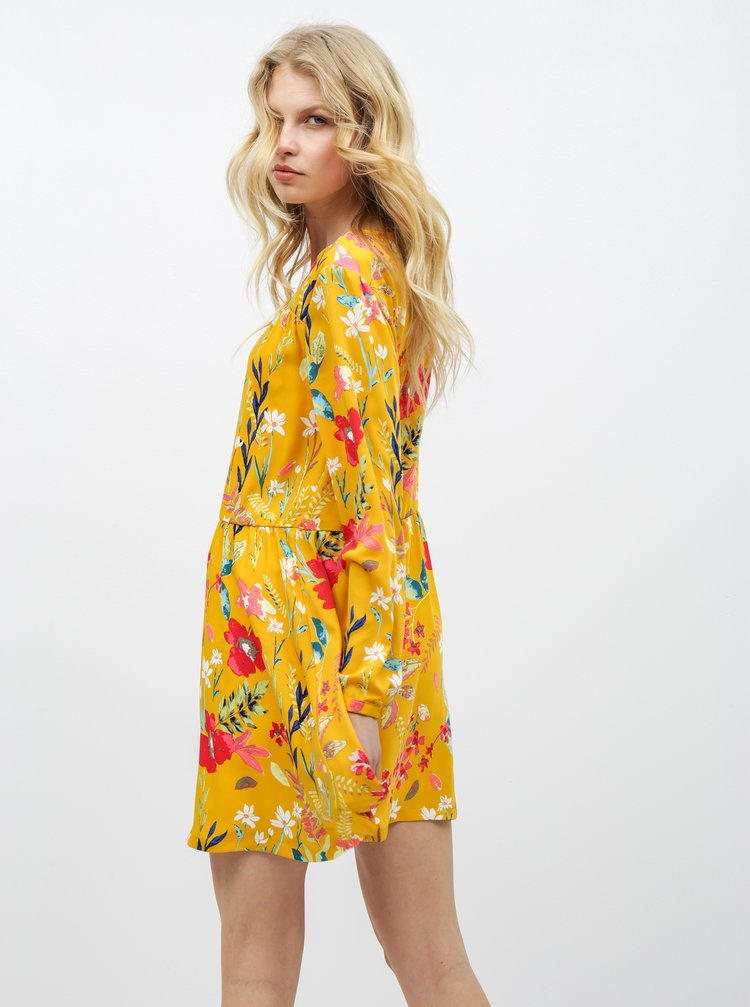 Žlté kvetované šaty ONLY Penny