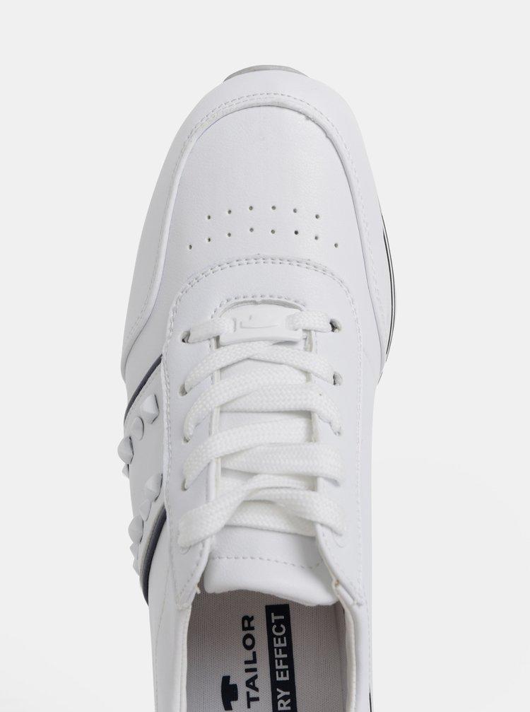 5f0cefbb4a6c ... Biele dámske tenisky na platforme Tom Tailor
