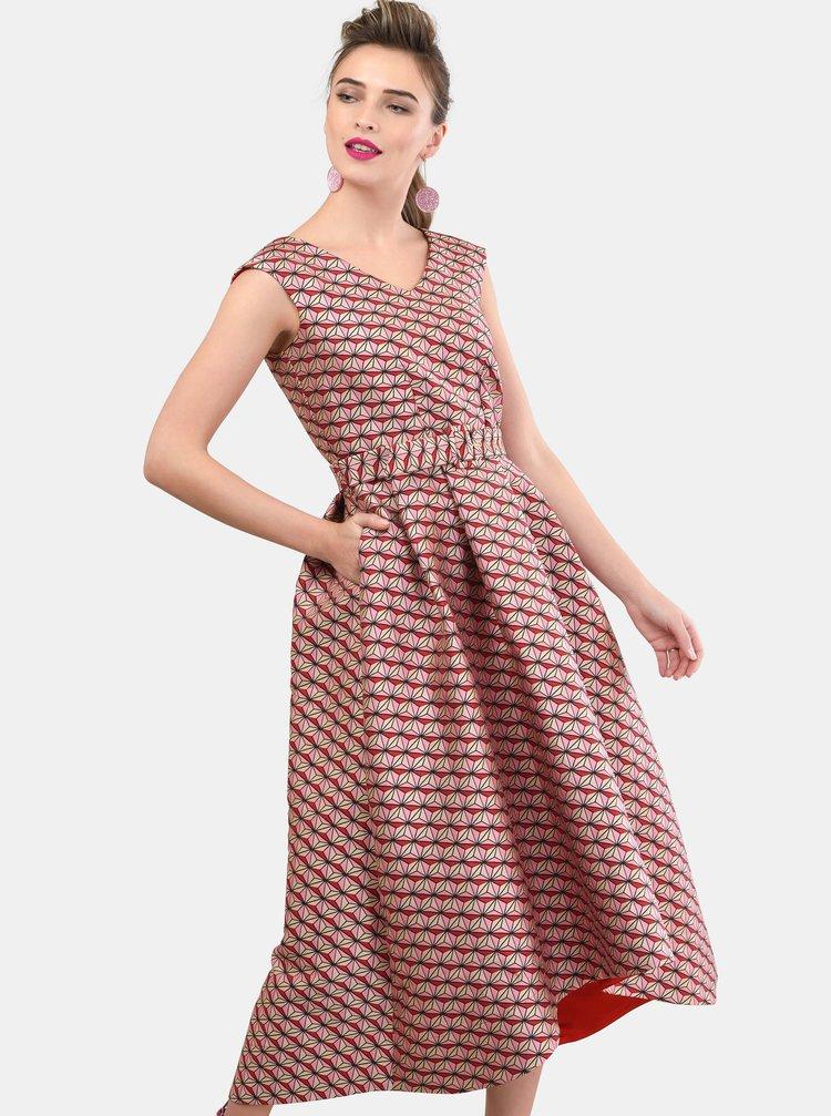 cc82422f1ad6 Zeleno-ružové šaty s volánom Dorothy Perkins
