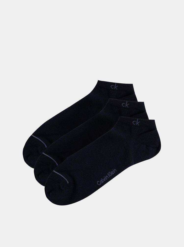 Balenie troch párov tmavomodrých pánskych ponožiek Calvin Klein Jeans
