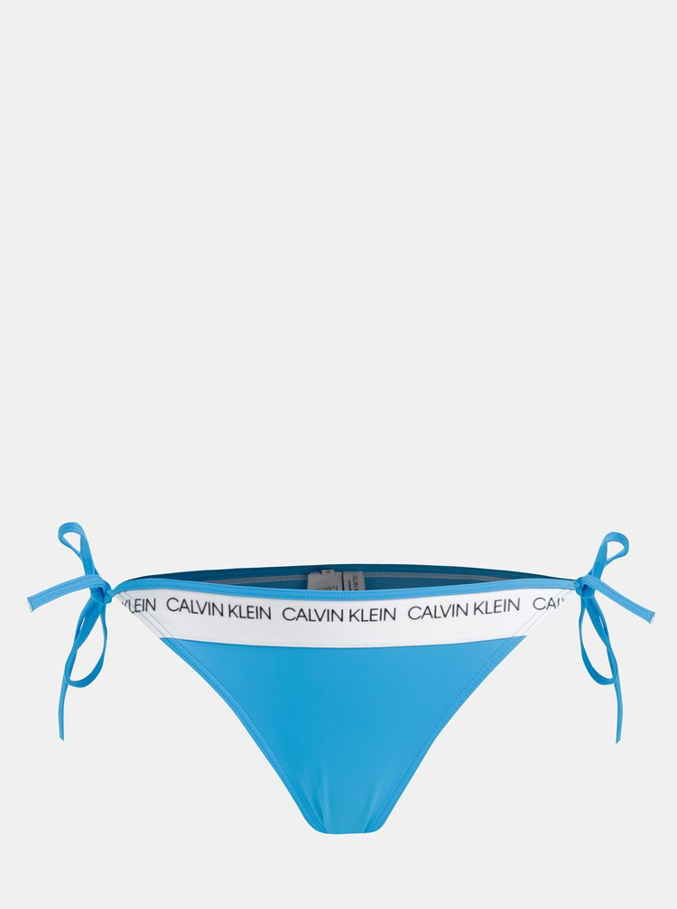 Modrý dámský spodní díl plavek Calvin Klein Underwear