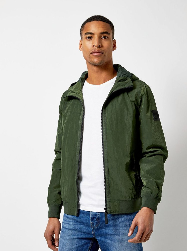 Jacheta verde inchis lejera Burton Menswear London Globe