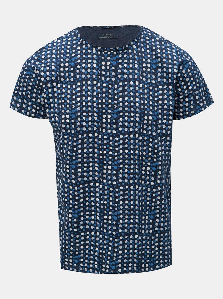 Tmavě modré puntíkované tričko Dstrezzed