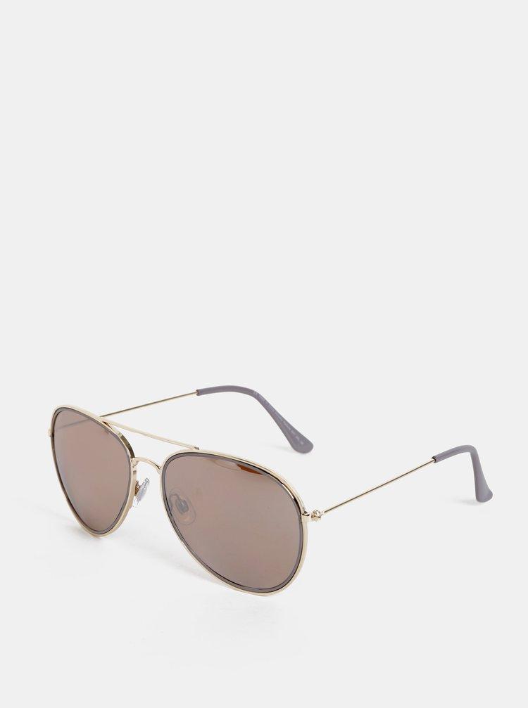 Sluneční brýle ve zlaté barvě Dorothy Perkins