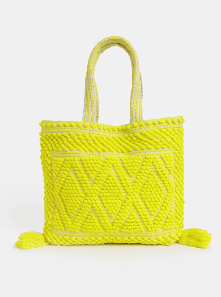 Žltá plážová taška Dorothy Perkins