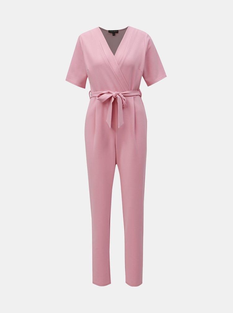 Salopeta roz cu decolteu suprapus Dorothy Perkins