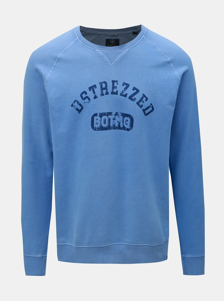Bluza sport albastru cu imprimeu Dstrezzed