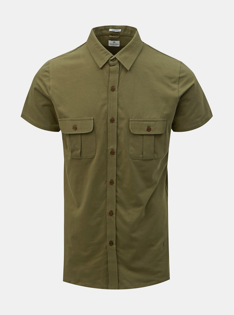 Khaki košile s kapsami Dstrezzed