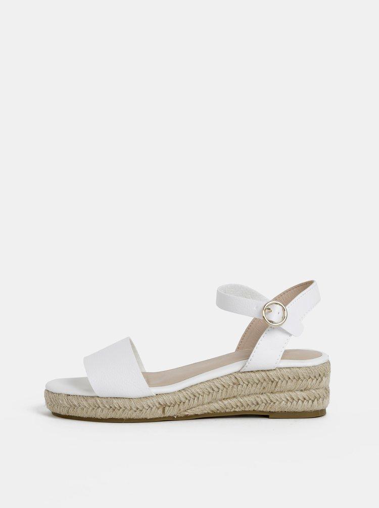 Sandale albe Dorothy Perkins
