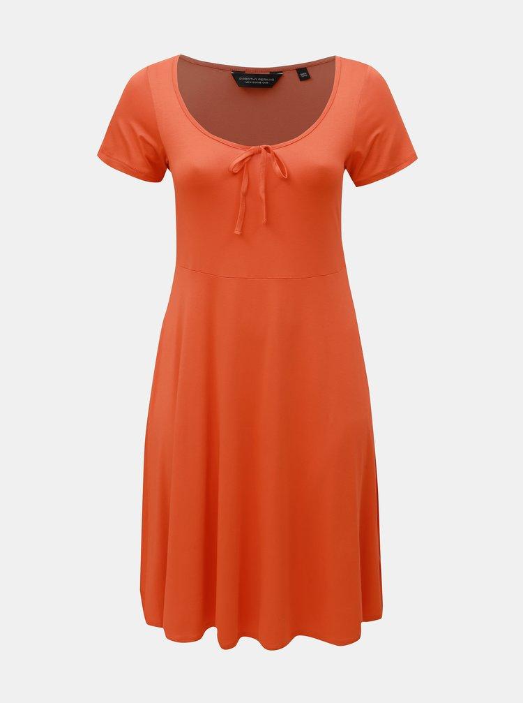 Oranžové šaty Dorothy Perkins Curve