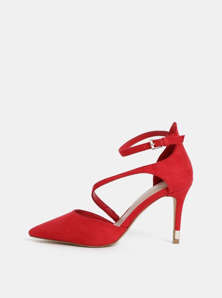Pantofi rosii cu aspect de piele intoarsa ALDO Vetrano