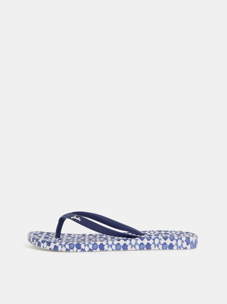Papuci flip-flop albastru inchis de dama cu model Tom Joule