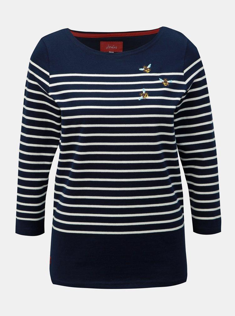 Tmavě modré pruhované tričko Tom Joule Harbour