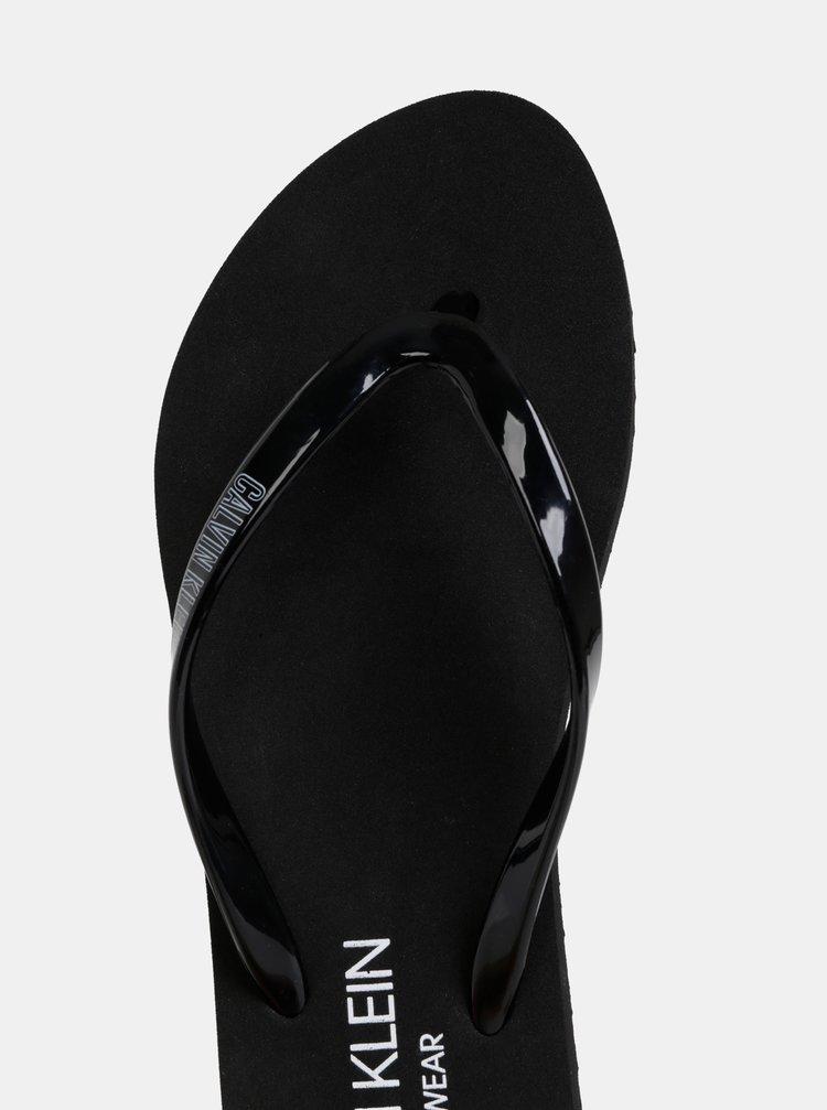 80431264e52a8 ... Čierne dámske žabky Calvin Klein Underwear