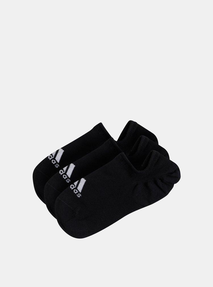 Sada tří párů černých ponožek adidas Performance