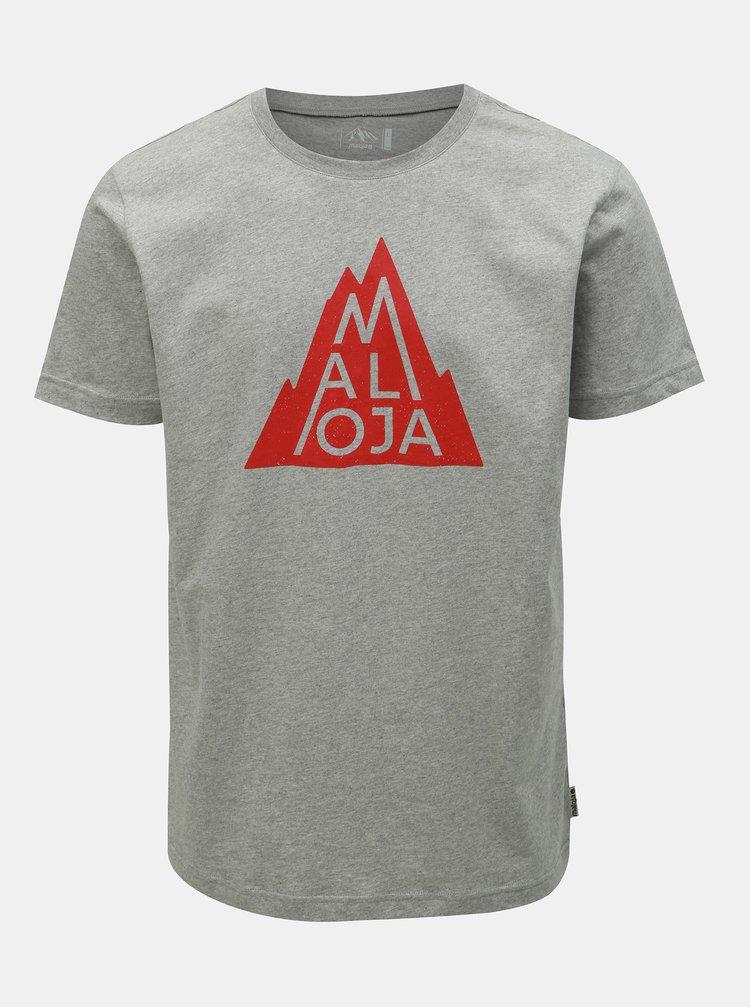 Šedé pánské tričko s potiskem Maloja Christian