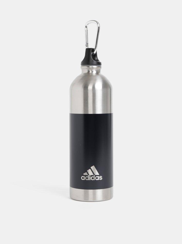 Fľaša na vodu v strieborno–čiernej farbe adidas Performance