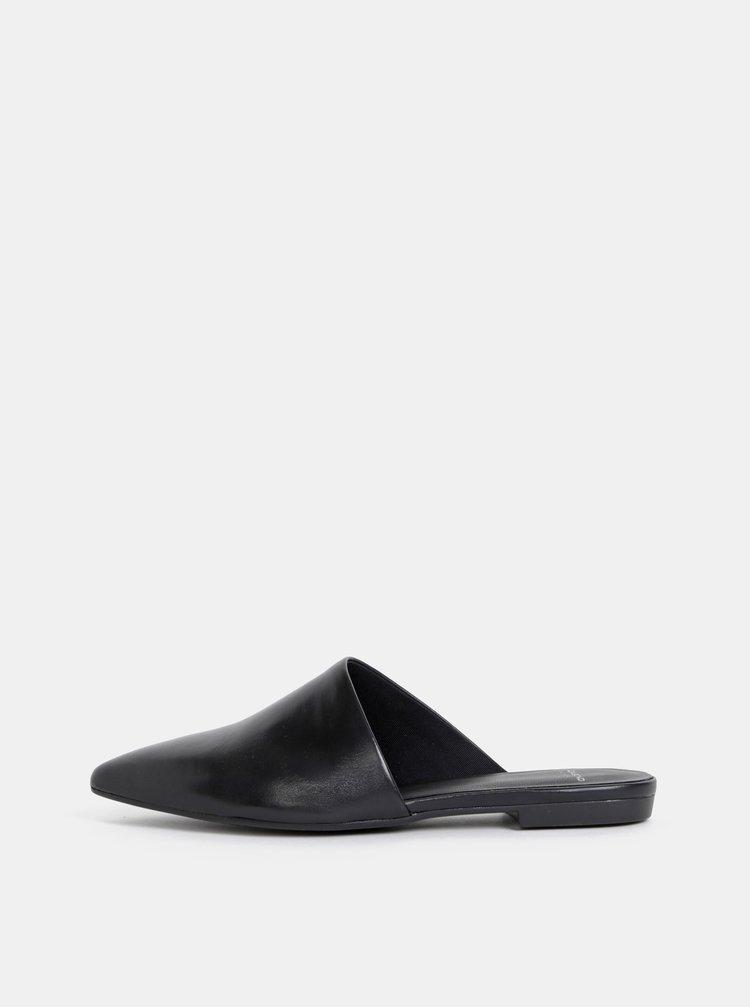 Černé dámské kožené pantofle Vagabond Katlin