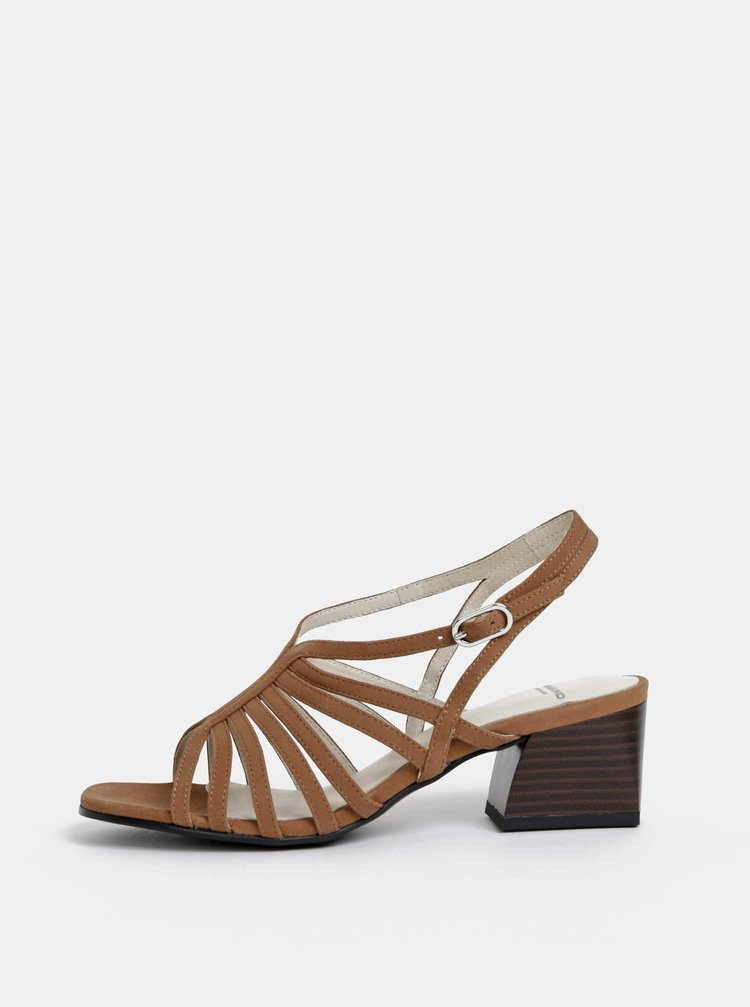 Sandale maro din piele intoarsa Vagabond Bella