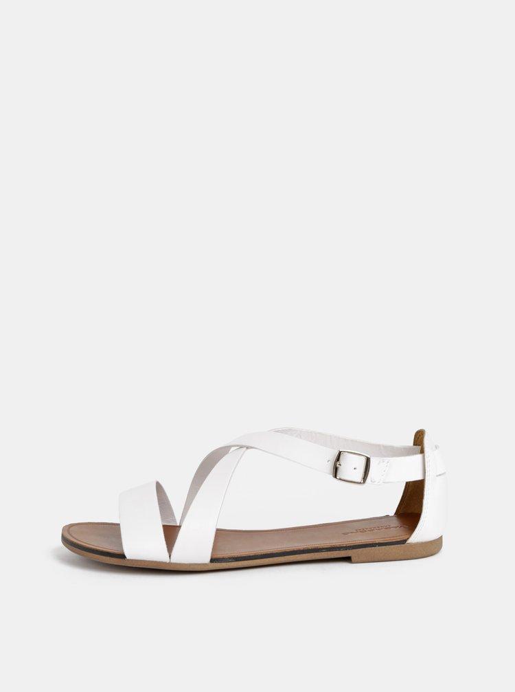 Sandale albe de dama din piele Vagabond Tia