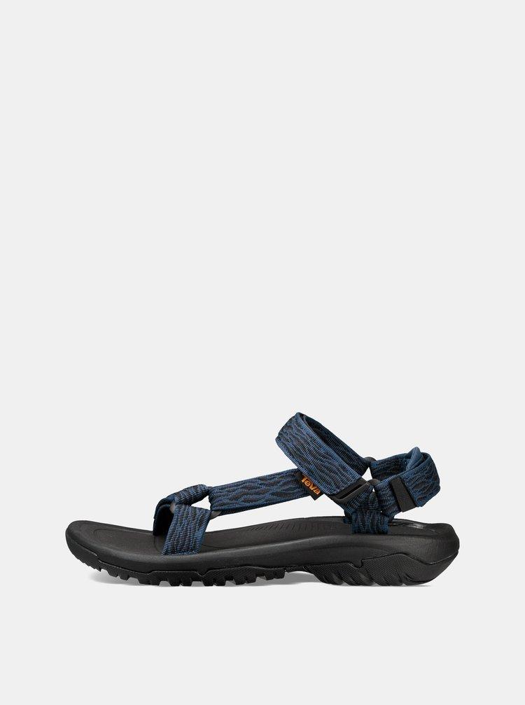Sandale barbatesti albastru inchis cu model Teva