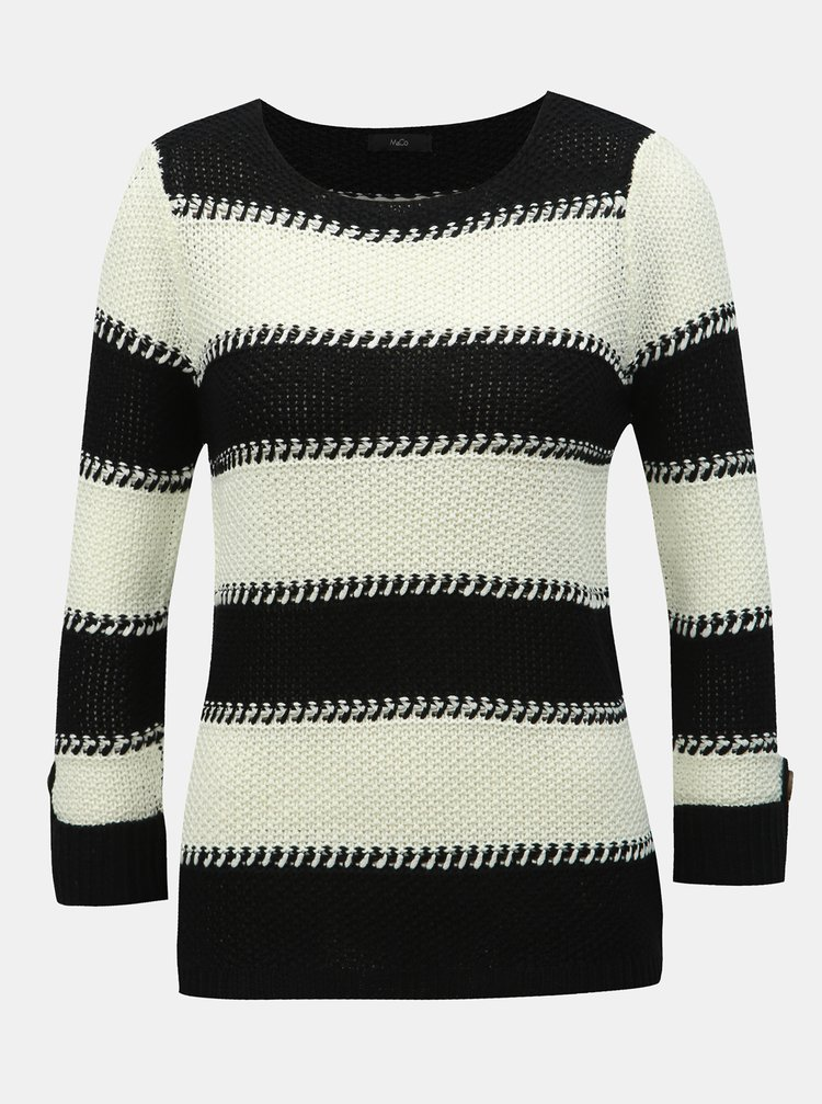 Bílo-černý pruhovaný svetr M&Co