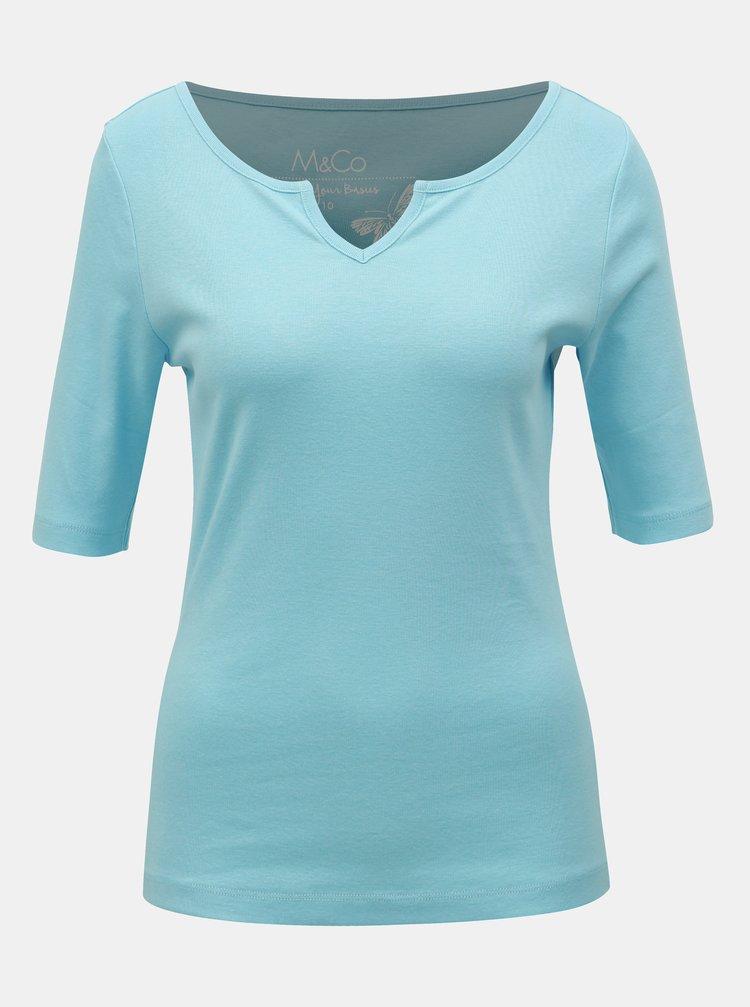 Tricou basic albastru deschis M&Co