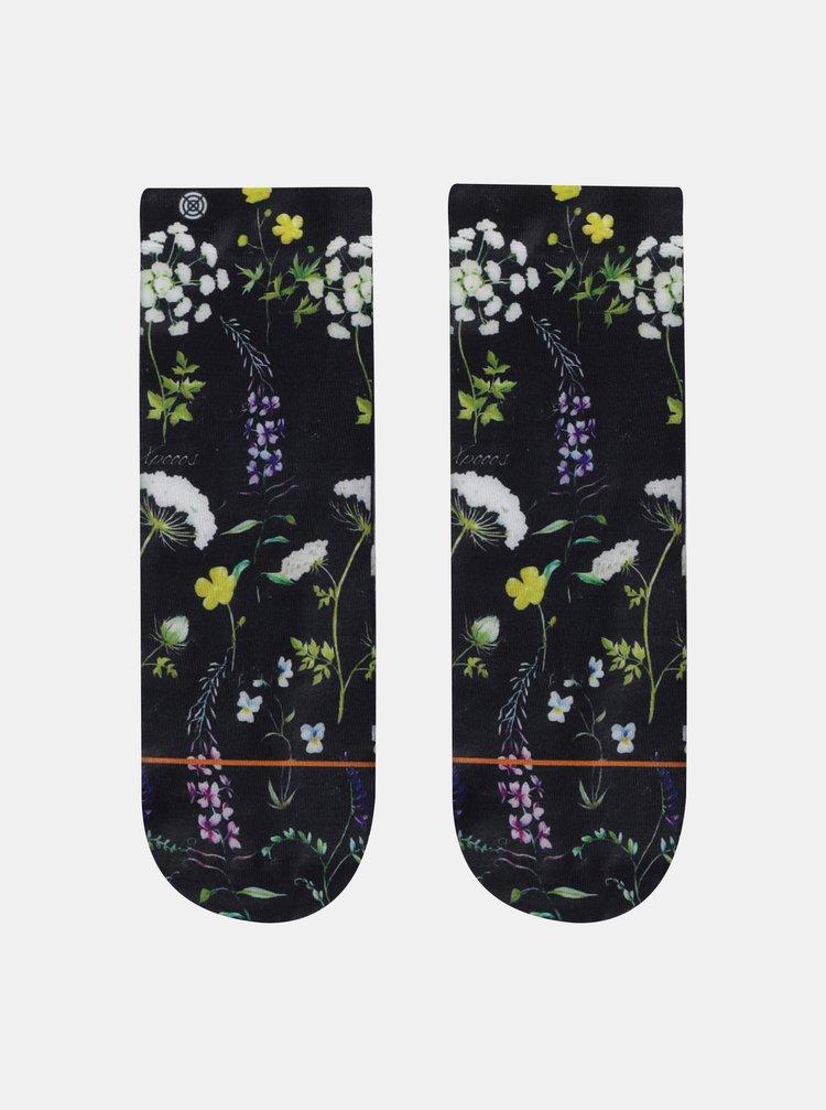 Sosete negre florale de dama XPOOOS