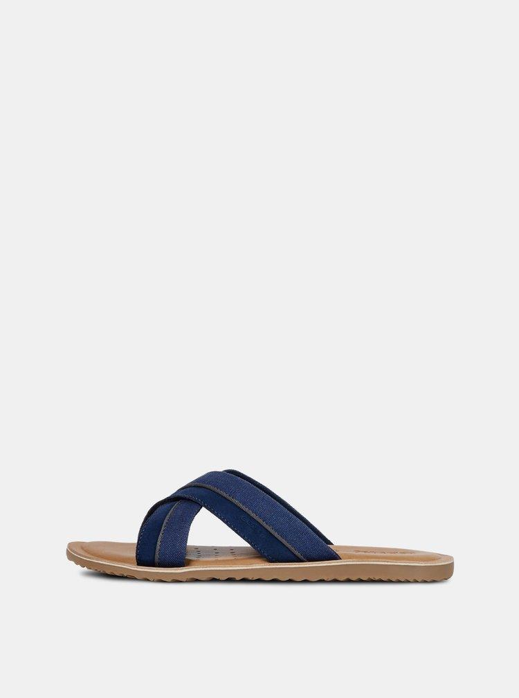 Pantofi barbatesti albastri cu brant din piele Geox Artie