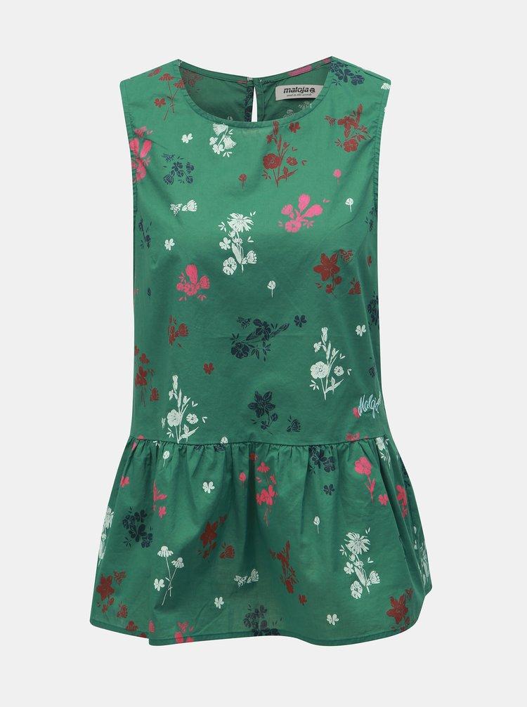 Zelený kvetovaný top Maloja Chapella