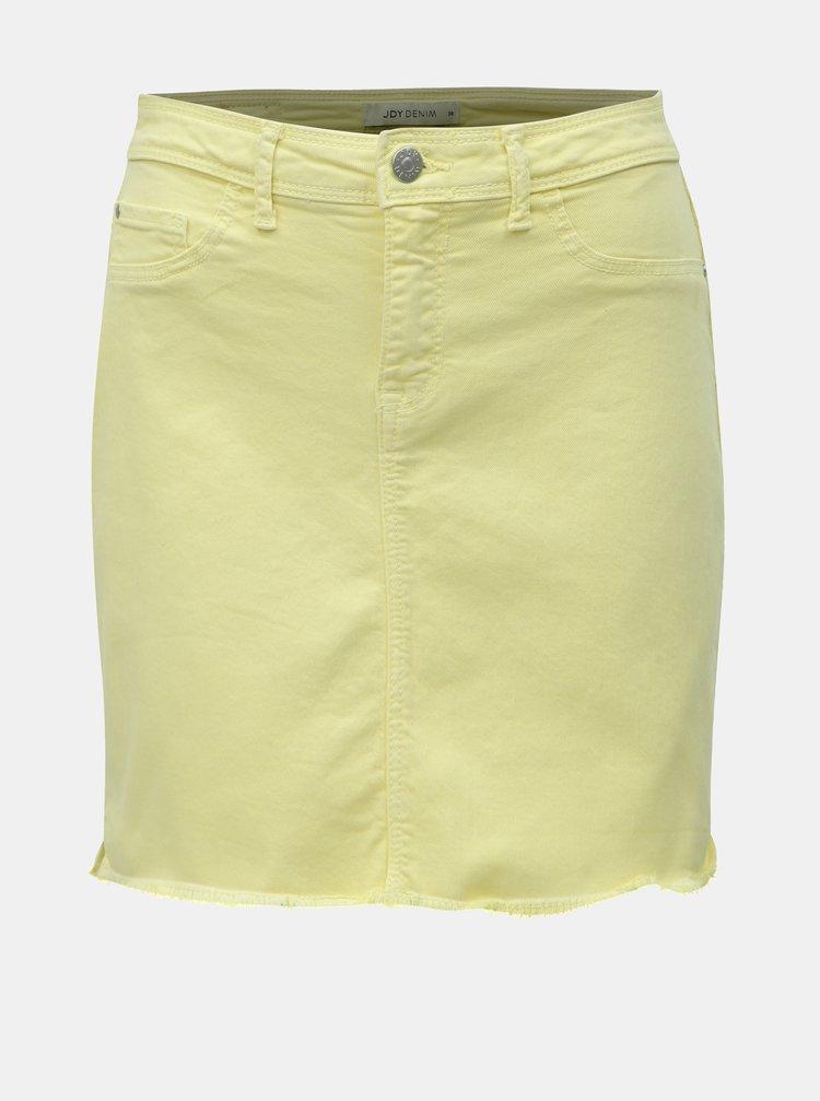 Žlutá džínová minisukně s roztřepeným lemem Jacqueline de Yong Anica