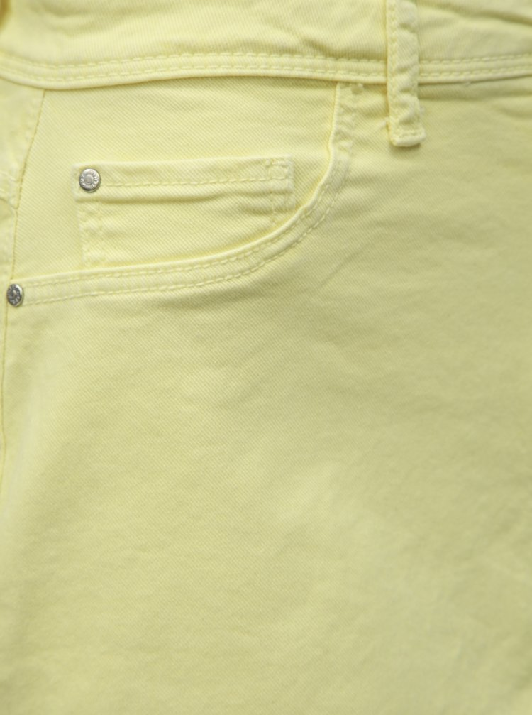 ab2c81438024 ... Žltá rifľová minisukňa s rozstrapkaným lemom Jacqueline de Yong Anica
