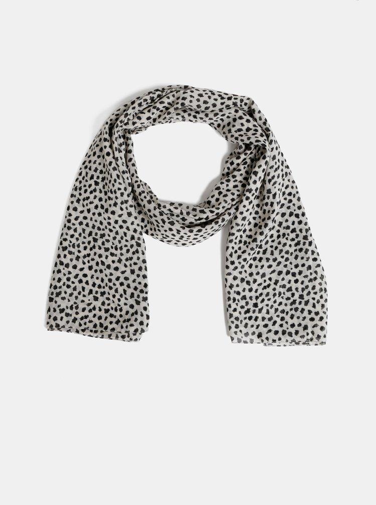 Béžový šátek s leopardím vzorem Pieces Curie
