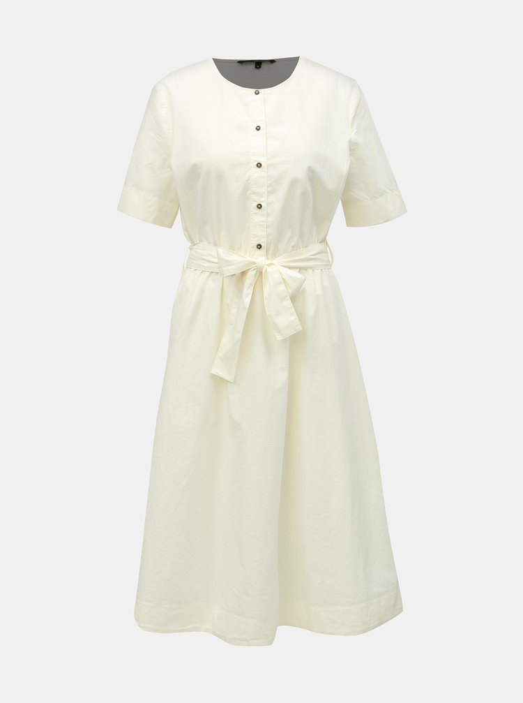 Bílé šaty s páskem VERO MODA Kammi