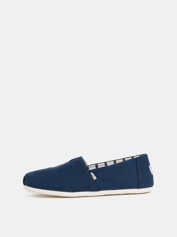 Pantofi espadrile barbatesti albastri TOMS