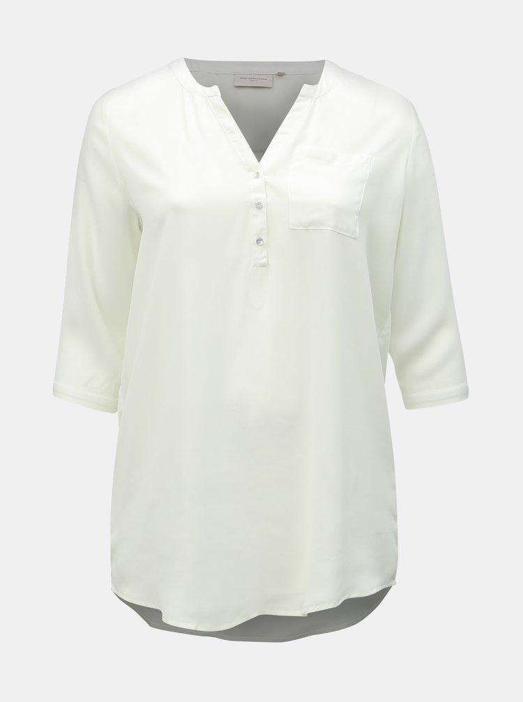 Bílá dlouhá halenka s kapsou ONLY CARMAKOMA Resource