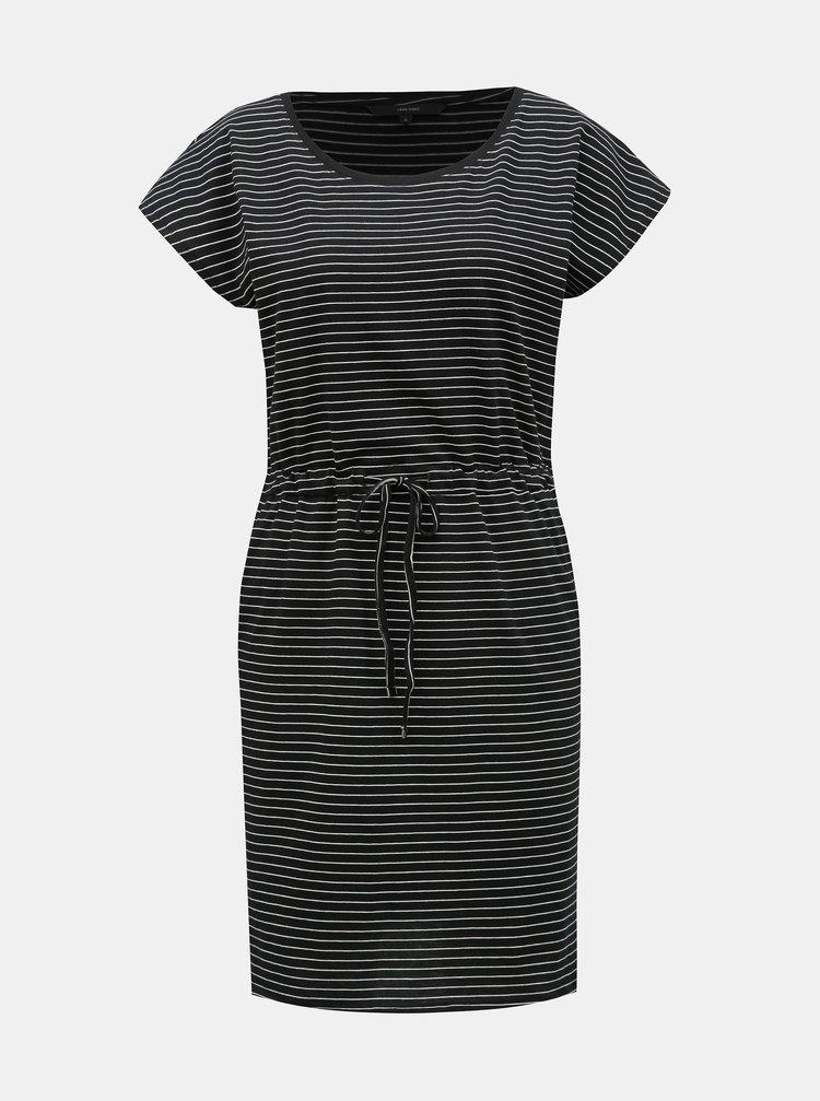 Černé pruhované šaty s kapsami VERO MODA April