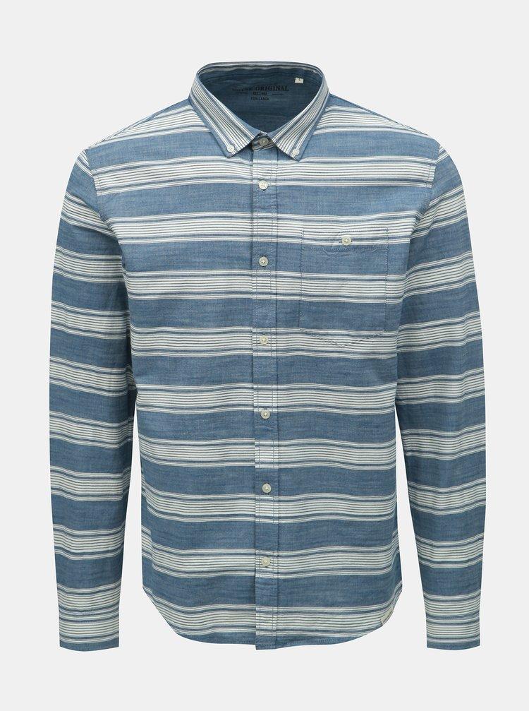 Bielo–modrá pruhovaná košeľa Shine Original