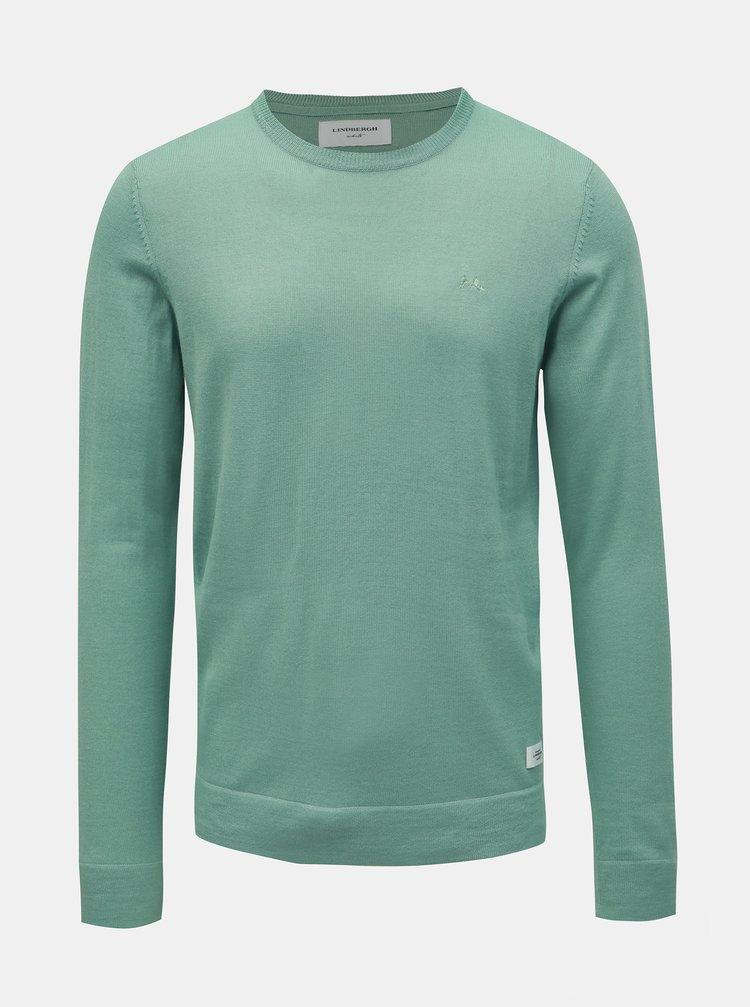 Světle zelený svetr z Merino vlny Lindbergh