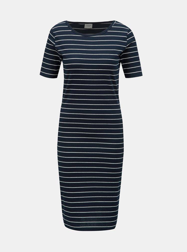 Modré pruhované basic šaty Jacqueline de Yong Nevada